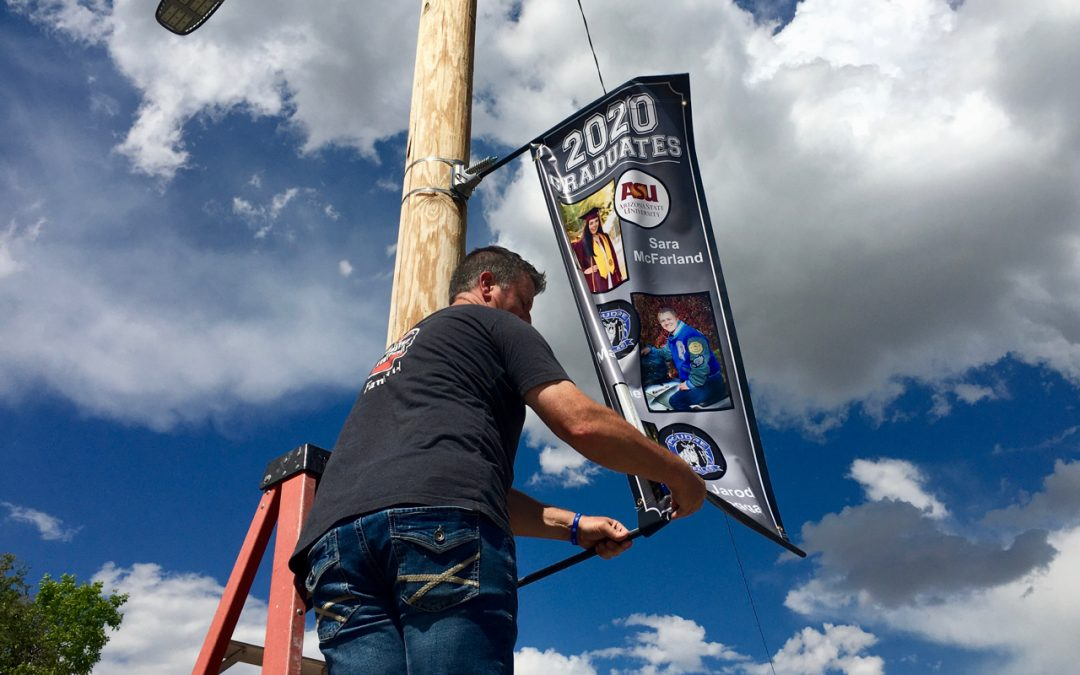 Wellington Honors 2020 Graduates with Street Side Banners